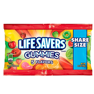 Lifesavers 5 flavors share size