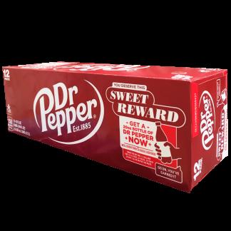 Display 12 unidades Lata Dr Pepper sabor tradicional
